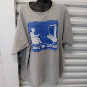 Living The Dream Distressed Tee Shirt Size 2 XL